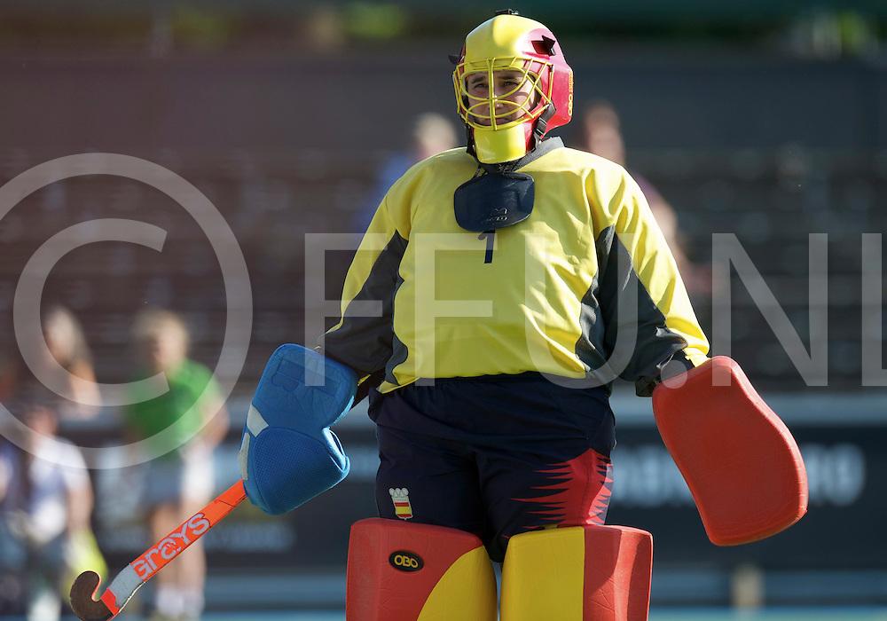 Amstelveen - Eurohockey Club Champions Cup<br /> HC 's Hertogenbosch - Club de Campo<br /> foto: Sad campo goalie Maria Jesus Rosa.<br /> FFU PRESS AGENCY COPYRIGHT FRANK UIJLENBROEK