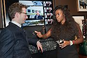 ANDY ANSON; ALEXANDRA ADENIYA, Opening of new Hackett flagship store. Regent St. London. 28 November 2013.