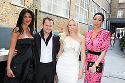 Left to right, DALAL ELHABASHI, HOBSON BARNES, VALENTINA DROUIN and ALEX MEYERS at a dinner hosted by Harper's Bazaar to celebrate Browns 40th Anniversary in aid of Women International held at The Regent Penthouses & Lofts, 16-18 Marshall Street, London on 20th May 2010.