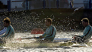 PUTNEY, LONDON, ENGLAND, 05.03.2006,CUBC [right to left]  No.5 Sebastian Schulte, No.6 Kieran West, No.7 Tom James,  Pre 2006 Boat Race Fixtures,.   © Peter Spurrier/Intersport-images.com..[Mandatory Credit Peter Spurrier/ Intersport Images] Varsity Boat Race, Rowing Course: River Thames, Championship course, Putney to Mortlake 4.25 Miles