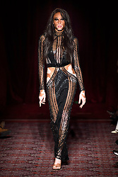 Model Winnie Harlow on the catwalk during the Julien Macdonald Autumn/Winter 2017 London Fashion Week show at Goldsmith's Hall, London.