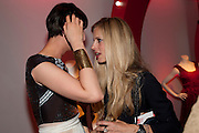 ERIN O'CONNOR; LAURA BAILEY, Tunnel of Love. Funfair party The Mending Broken Hearts appeal In aid of the British Heart Foundation. Victoria House, Bloomsbury. London. 17 May 2011. <br /> <br />  , -DO NOT ARCHIVE-© Copyright Photograph by Dafydd Jones. 248 Clapham Rd. London SW9 0PZ. Tel 0207 820 0771. www.dafjones.com.