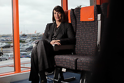 UK ENGLAND LUTON 12FEB14 - Easyjet CEO Carol McCall poses for a photo at the company's headquarters in Luton, England.<br /> <br /> <br /> <br /> jre/Photo by Jiri Rezac<br /> <br /> <br /> <br /> © Jiri Rezac 2014