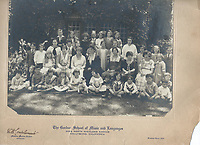 1923 The Gordon School of Music & Languages at 2062 N. Highland Ave. Helen Augusta Stern is third from the right in the back row.