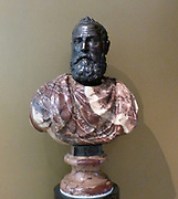 Annibale Caro about 1566-72, Antonio Calcagni (1536-93).  Caro was a poet and scholar, a key figure in the artistic life of Rome under Pope Paul III and a friend of Michelangelo.  This bust was commissioned after his death in 1566, and was recorded in the library of the family home in 1578.