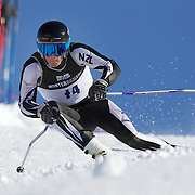 Adam Barwood, New Zealand, in action during the Men's Giant Slalom competition at Coronet Peak, New Zealand during the Winter Games. Queenstown, New Zealand, 22nd August 2011. Photo Tim Clayton