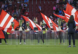 May 12, 2019 - Madrid, Madrid, Spain - Trophies that Godin won with Atletico de Madrid in action during La Liga Spanish championship, , football match between Atletico de Madrid and Sevilla, May 12th, in Wanda Metropolitano Stadium in Madrid, Spain. (Credit Image: © AFP7 via ZUMA Wire)