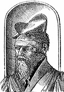 Pierre Belon (1517-1564) French naturalist. Belon aged 36. Woodcut portrait first published in 1553.