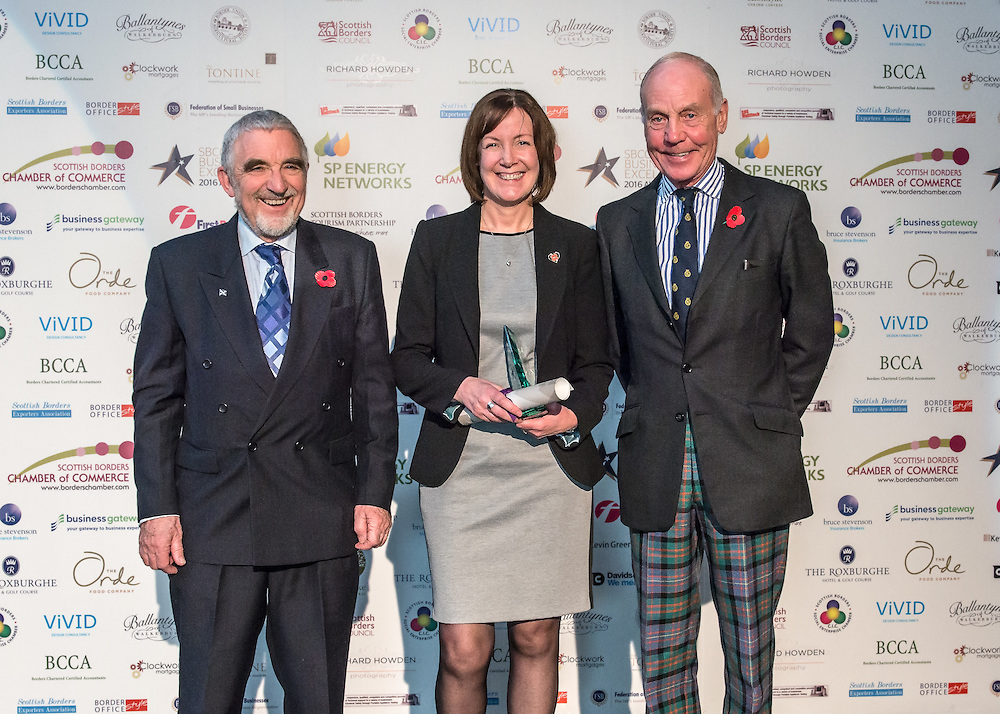 Scottish Borders Business Excellence Awards 2016,  Healthcare and Well-being Award. Sponsored by Scottish Borders Chamber of Commerce. Winner ~ Queens House (Kelso).<br /> <br /> The 2016 Scottish Border Business Excellence Awards, held at Springwood Hall, Kelso. The awards were run by the Scottish Borders Chambers of Commerce, with guest speaker Councillor Stuart Bell, BSC Executive Member for Economic Development.  The SBCC chairman Jack Clark and the presenter Fiona Armstrong co hosted the event.