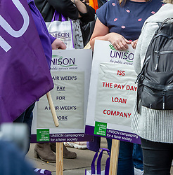 """Pictured: <br />Scottish Labour leader Richard  Leonard and health spokeswoman Monica Lennon joined NHS workers to lobby Parliament to pay Hairmyres hospital staff """"what they are due"""". Ger Harley 