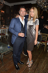 Diego Biasi and Rebecca Zanazzo at a dinner for JF London x Kyle DeVolle held at Beach Blanket Babylon, Ledbury Road, London on 29th September 2016.