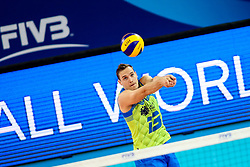 Jani Kovacic of Slovenia during volleyball match between Slovenia and Chile in Group A of FIVB Volleyball Challenger Cup Men, on July 3, 2019 in Arena Stozice, Ljubljana, Slovenia. Photo by Matic Klansek Velej / Sportida