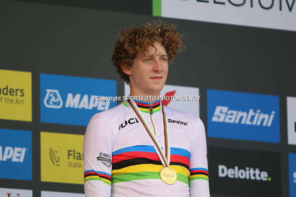 BRUGGE (BEL): CYCLING: SEPTEMBER 21th: <br /> Danish rider Gustav Wang is the new world junior time trial champion.