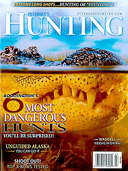 Petersen's Hunting Magazine, July 2011, cover use, USA, Image ID: American-Alligator-