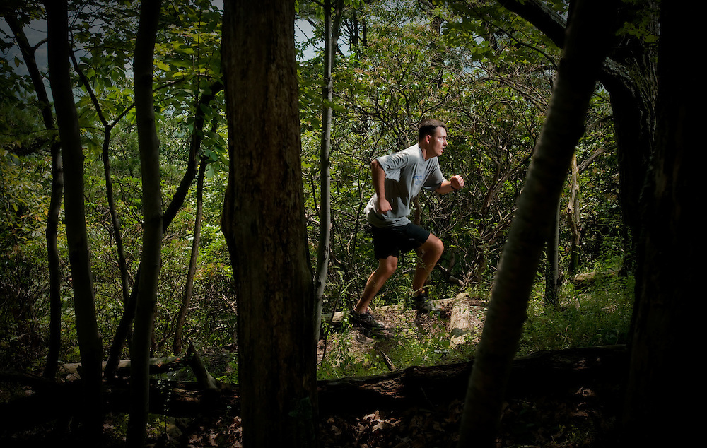 The final hill at the Catoctin 50k held near Frederick, MD.