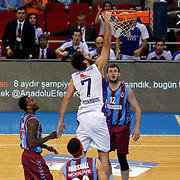 Anadolu Efes's and Trabzonspor's during their Turkish Basketball League Play Off Semi Final round 1 match Anadolu Efes between Trabzonspor at Abdi Ipekci Arena in Istanbul Turkey on Friday 29 May 2015. Photo by Aykut AKICI/TURKPIX