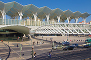 Oriente Station. The station was projected by spanish architect Santiago Calatrava and was inaugurated for the Expo98 world exhibition in Lisbon.