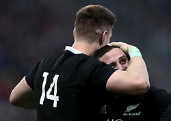 November 24, 2018 - Rome, Italy - Italy v New Zealand All Blacks - Rugby Cattolica Test Match.New Zealands Jordie Barrett and TJ Perenara at Olimpico Stadium in Rome, Italy on November 24, 2018. (Credit Image: © Matteo Ciambelli/NurPhoto via ZUMA Press)