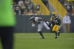 Rasheed Bailey #18 of the Philadelphia Eagles against the Green Bay Packers at Lambeau Field on August 29, 2015 in Green Bay, Pennsylvania. The Eagles won 39-26. (Photo by Drew Hallowell/Philadelphia Eagles)