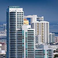 South Beach Condominiums along Biscayne Bay
