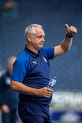 Falkirk's manager Ray McKinnon. Falkirk 1 v 1 Livingston, Livingston win 4-3 on penalties. BetFred Cup game played 13/7/2019 at The Falkirk Stadium.