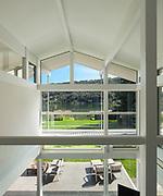 Architecture, interior of a modern house, veranda view