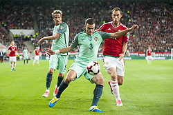 September 3, 2017 - Budapest, Hungary - Pepe of Portugal fights for the ball with Marton Eppel of Hungary during the FIFA World Cup 2018 Qualifying Round match between Hungary and Portugal at Groupama Arena in Budapest, Hungary on September 3, 2017  (Credit Image: © Andrew Surma/NurPhoto via ZUMA Press)