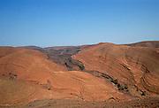 Mountains of the desert on the way to Ouarzazate, Morocco
