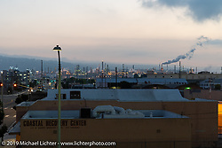View from the roof of Keith Ball's Bikernet's World HQ in Wilmington, CA. Wednesday, June 20, 2018. Photography ©2018 Michael Lichter.