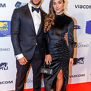 NLD/Amsterdam/20181029 - MTV pre party 2018, Nochtli Peralta Alvarez en partner Jeremy Mettendaf