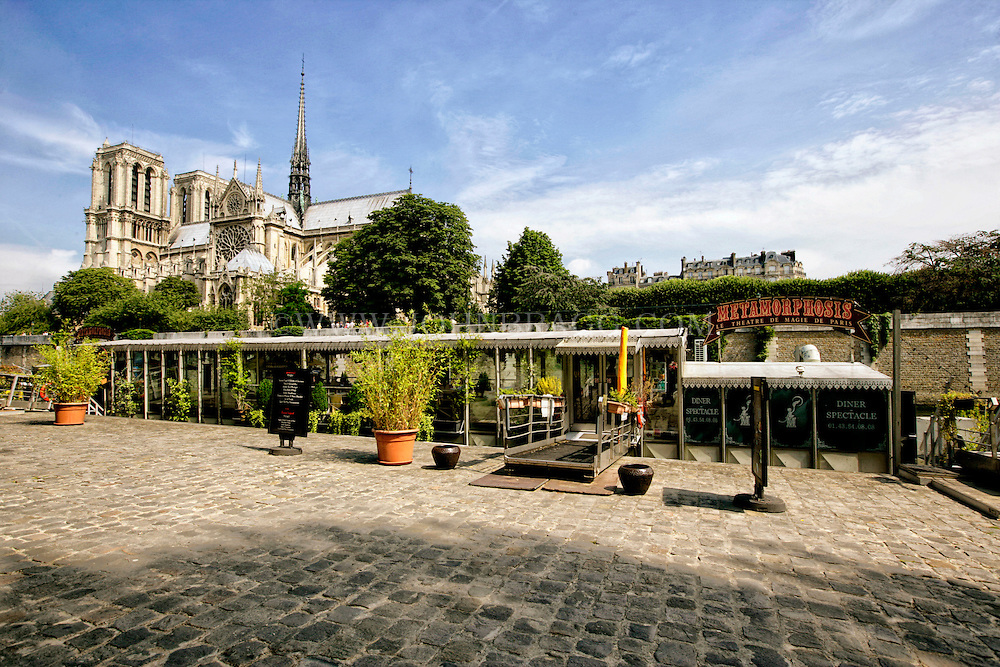 Notre Dame Cathedral, taken outside of the Metamorphosis Magic Theater, Paris, France.
