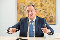 31 MAY 2021, BERLIN/GERMANY:<br /> Armin Laschet, CDU, Ministerpraesident Nordrhein-Westfalen und CDU Bundesvorsitzender, waehrend einem Interview, Landesvertretung NRW<br /> IMAGE: 20210531-01-024