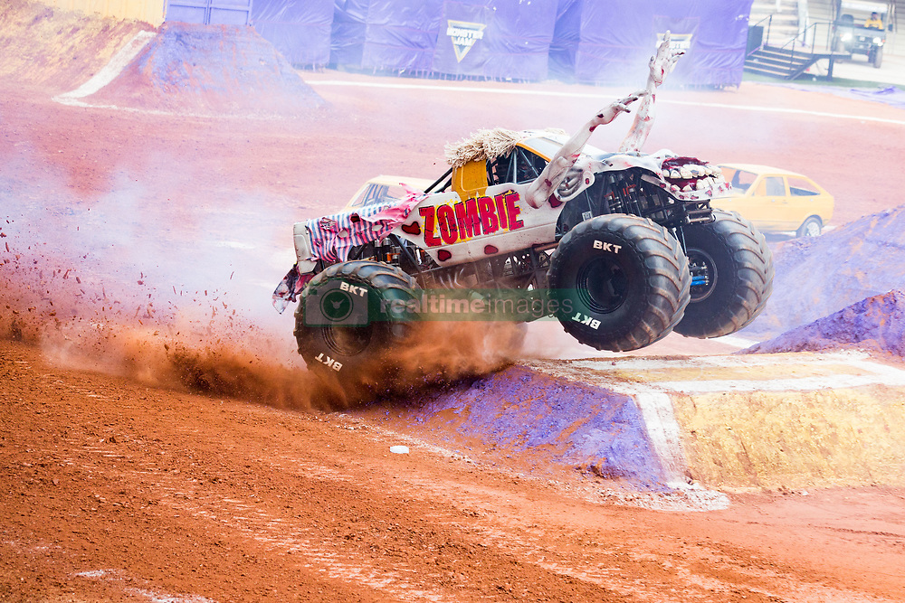 December 16, 2017 - Sao Paulo, Sao Paulo, Brazil - Zombie in action during a round of racing. Monster Jam was held at Corinthians Stadium, in Sao Paulo, Brazil. (Credit Image: © Paulo Lopes via ZUMA Wire)