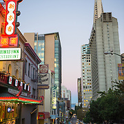 View of San Francisco financial district from Chinatown