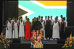 The City of Cape Town hosted an Evening of Remembrance at the OR Tambo hall, Khayelitsha. for the late former President of South Africa, Nelson Mandela. The Masi choir performs, South Africa  Monday, 9th December 2013. Picture by Roger Sedres / i-Images