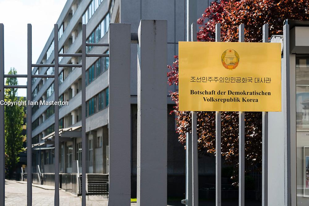 Exterior view of North Korean Embassy in Berlin, Germany