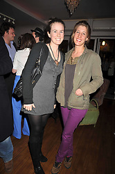 Left to right, LAURA TROUGHTON and EMILY ROSE GIBBS at a party for Glenmorangie hosted at Barts,  Sloane Avenue, London on 26th March 2009.