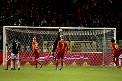 November 10, 2017 - Bruxelles, Belgique - Kevin De Bruyne forward of Belgium looks Thibaut Courtois goalkeeper of Belgium (Credit Image: © Panoramic via ZUMA Press)