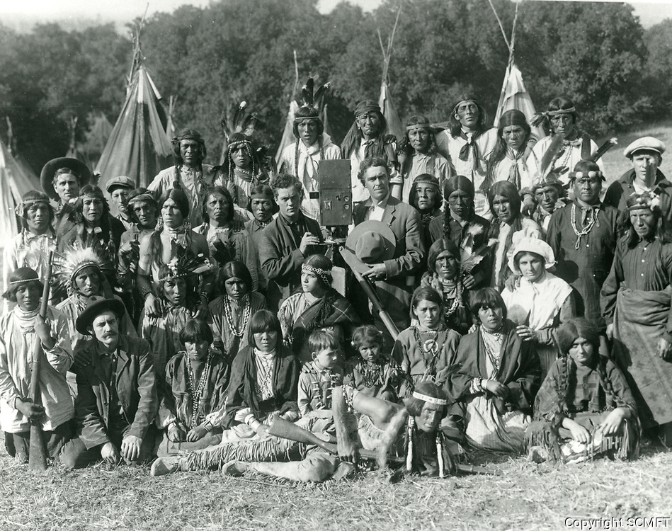 1915 Cast members at Inceville in the Santa Monica Mountains