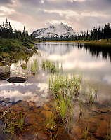 Alpine lake in the Tonquin Valley Jasper National Park Alberta Canada