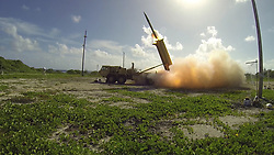Apr 25, 2017 - (FILE PHOTO) - The U.S. military started moving the THAAD anti-missile defense system to a deployment site in South Korea on Wednesday PICTURED: Nov. 1, 2015 - A Terminal High Altitude Area Defense (THAAD) interceptor is launched from a THAAD battery located on Wake Island, during Flight Test Operational (FTO)-02 Event 2a, conducted. During the test, the THAAD system successfully intercepted two air-launched ballistic missile targets. (Credit Image: © Ben Listerman/Department of Defense via ZUMA Wire)