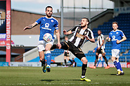 Chesterfield midfielder Robbie Weir (28)  and Notts County midfielder Liam Noble (18)  during the EFL Sky Bet League 2 match between Chesterfield and Notts County at the Proact stadium, Chesterfield, England on 25 March 2018. Picture by Nigel Cole.