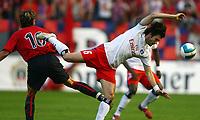 David Lopez Osasuna, Raphael Wicky<br /> Fussball Champions League Qualifikation CA Osasuna - Hamburger SV<br /> Norway only