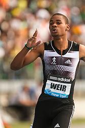 Warren Weir, Jamaica, wins men's 200 meters at adidas Grand Prix Diamond League track and field meet