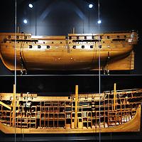 Nederland, Amsterdam , 20 maart 2013.. Het Rijksmuseum..De zaal met oude zeilschepen uit de VOC periode..Foto:Jean-Pierre Jans