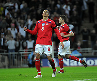 Photo: Tony Oudot/Richard Lane Photography. <br /> England v Switzerland. International Friendly. 06/02/2008. <br /> Jermaine Jenas of England is dejected after coming close to scoring