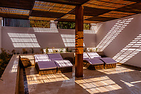 A peaceful courtyard for relaxation at the Nayara Spa, Hilton Luxor Resort and Spa, on the Nile River, Luxor, Egypt