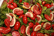 tomatoes with figs and basil