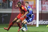 FOOTBALL - FRENCH CHAMPIONSHIP 2010/2011 - L2 - LEMANS FC v LE HAVRE AC - 18/04/2011 - PHOTO JEAN MARIE HERVIO / DPPI - FREDERIC THOMAS (LMFC) / BENJAMIN GENTON (HAC)