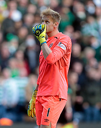 Heart of Midlothian's Zdenek Zlamal after conceding a second goal against Celtic during the Betfred Cup semi final match at BT Murrayfield Stadium, Edinburgh. PRESS ASSOCIATION Photo. Picture date: Sunday October 28, 2018. See PA story SOCCER Hearts. Photo credit should read: Graham Stuart/PA Wire. EDITORIAL USE ONLY